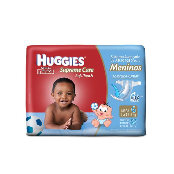 Huggies Turma da Mônica Supreme Care Soft Touch Meninos G 32 Unidades